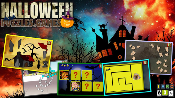 <b>Kids Halloween Puzzles and Logic Games</b>