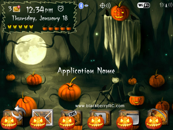 Spooky Halloween Blackberry Theme