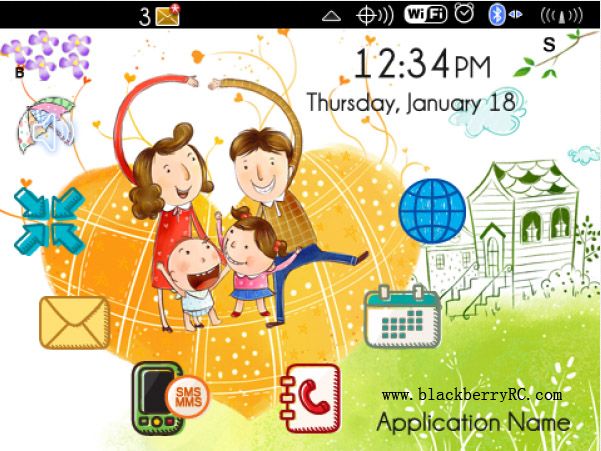 Ever Happy Life theme for blackberry download
