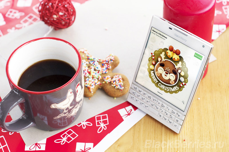 BlackBerry BBM free Christmas New Year's face sticker