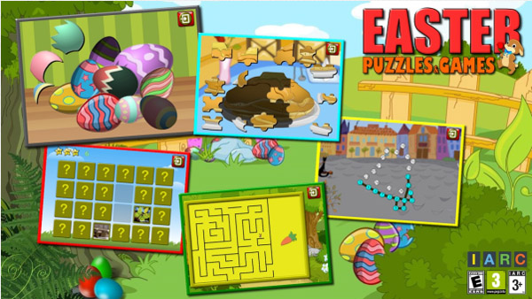 Kids Easter Puzzles and Logic Games