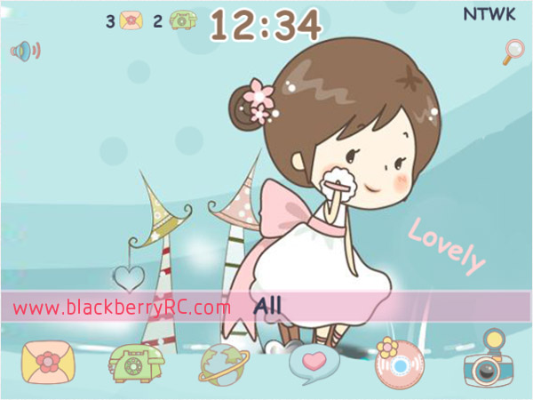 free cute doodle make up blackberry theme free blackberry themes