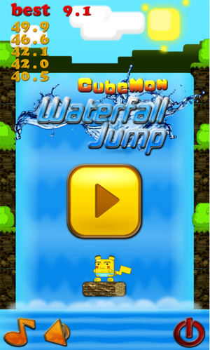 <b>Cubemon Waterfall Jump v1.0.0.1</b>
