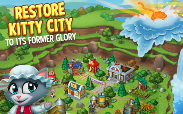 <b>Kitty City: Help Cute Cats Build & Harvest Crops</b>
