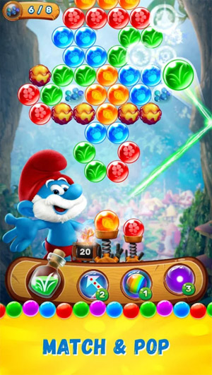 <b>Smurfs Bubble Story for blackberry keyone, priv g</b>