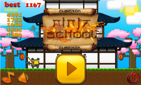 <b>Cubemon Ninja School for android games</b>