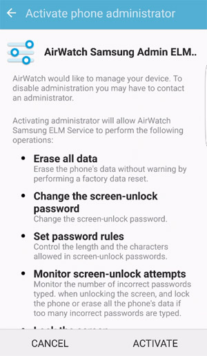 <b>AirWatch Agent for blackberry android apps</b>