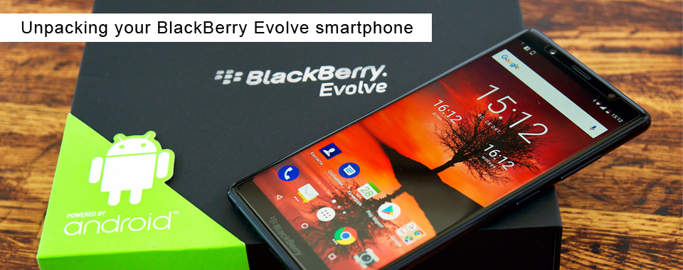 Unpacking your BlackBerry Evolve smartphone