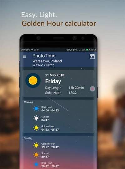 PhotoTime: Golden Hour Calculator apps