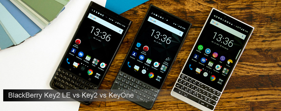 BlackBerry Key2 LE vs Key2 vs KeyOne