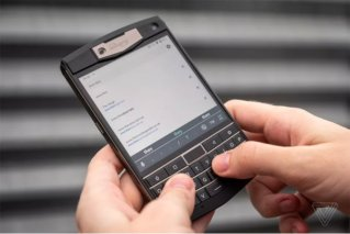 This heavy-duty phone is like a BlackBerry Passport that runs Android